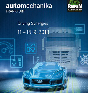 AUTOMECHANIKA 11-15 Settembre 2018 Francoforte, Germania